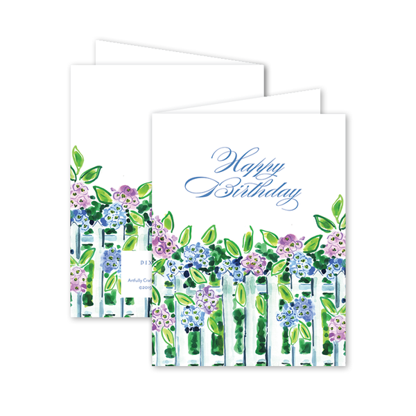 Nantucket Hydrangea Birthday Card