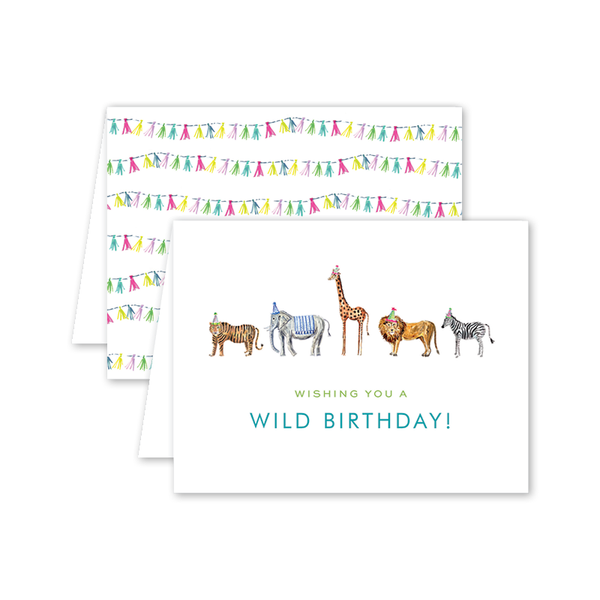 Party Animals Train Birthday Card