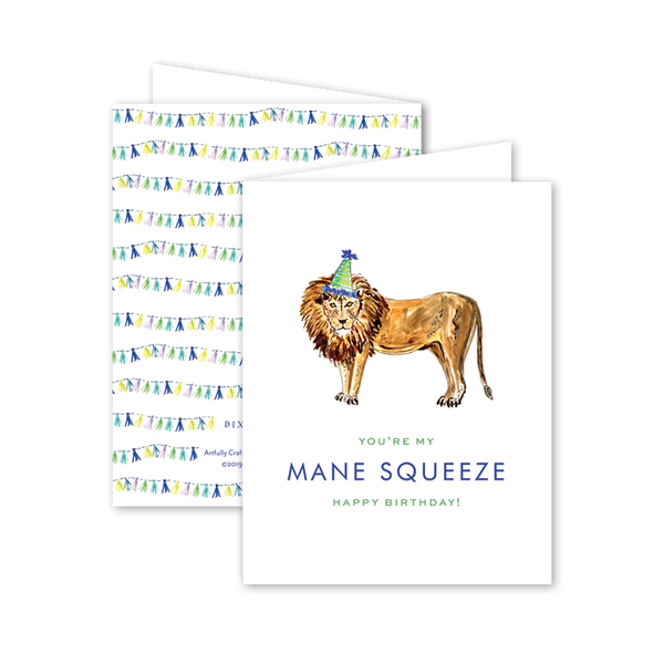 Party Animal Lion Birthday Card