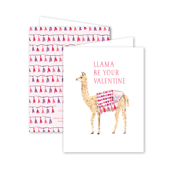 Party Llama Valentine Card