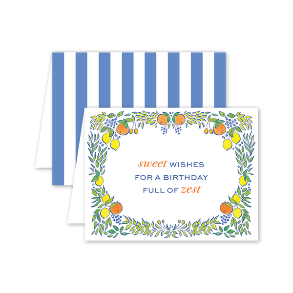 Calabria Citrus Birthday Card