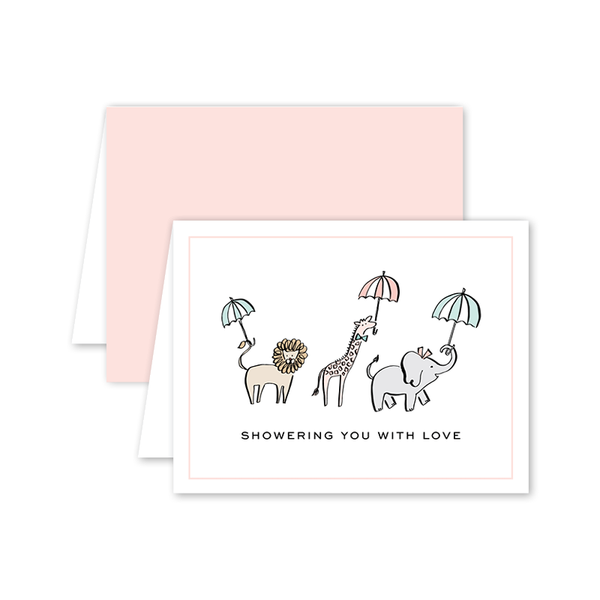 Shower Animals Card