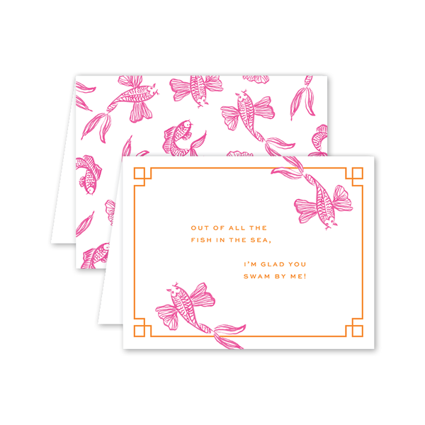 Koi Fish Pink Card