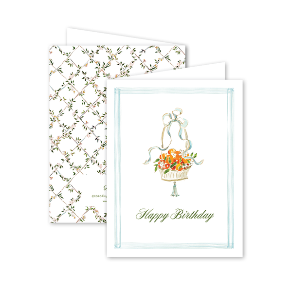Seersucker Citrus Birthday Card