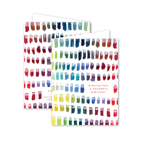 Color Chart Birthday Card