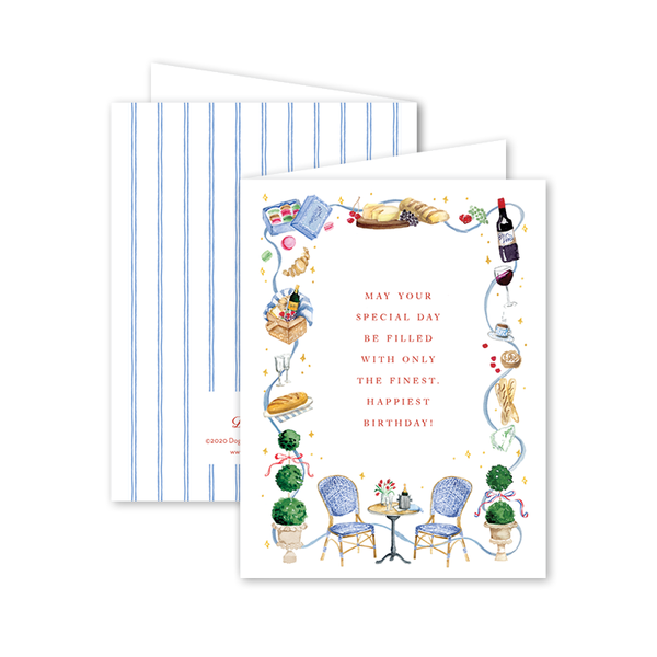 Parisian Picnic Birthday Card
