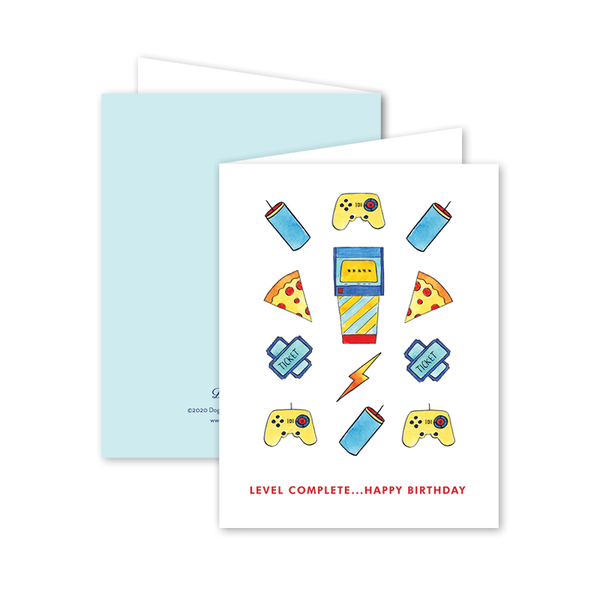 Arcade Birthday Card