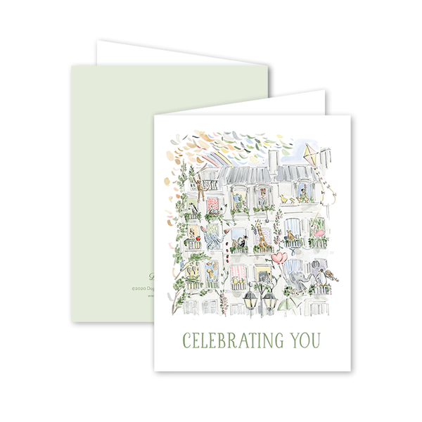 Zoo in the City Birthday Card