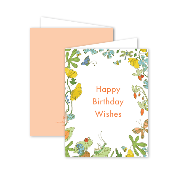 Critter Garden Birthday Card