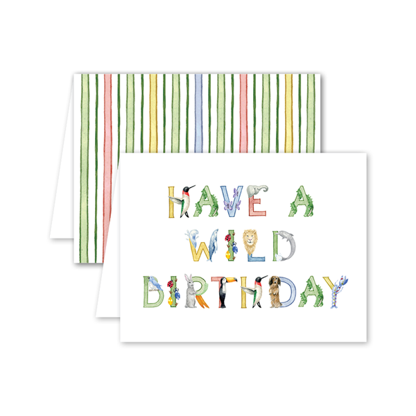 Animal Alphabet Birthday Card