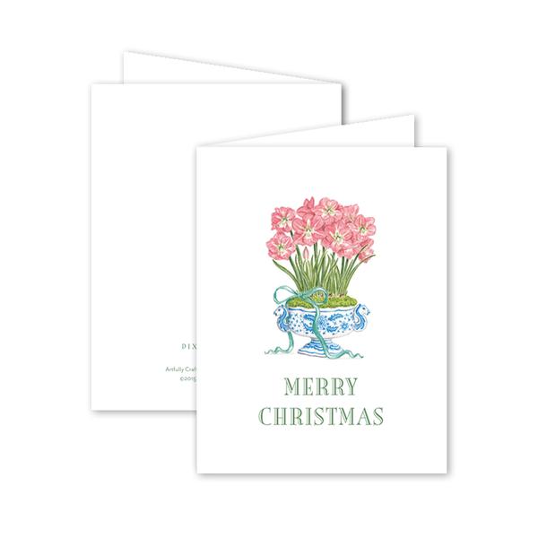 Amaryllis Christmas Card