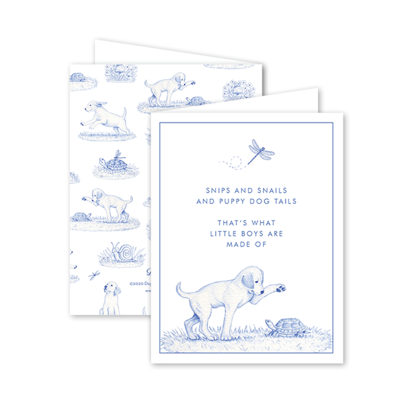 Snips and Snails Poem Card