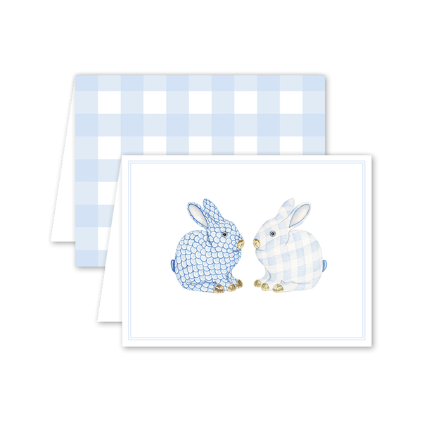 Porcelain Bunnies Blue