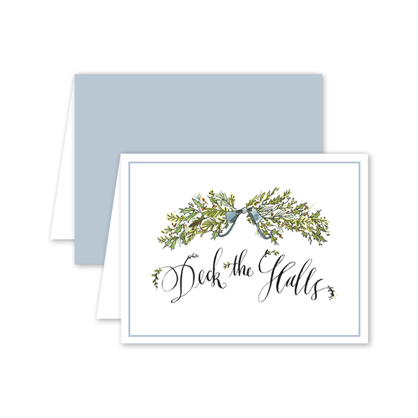 Deck the Halls Greenery Card