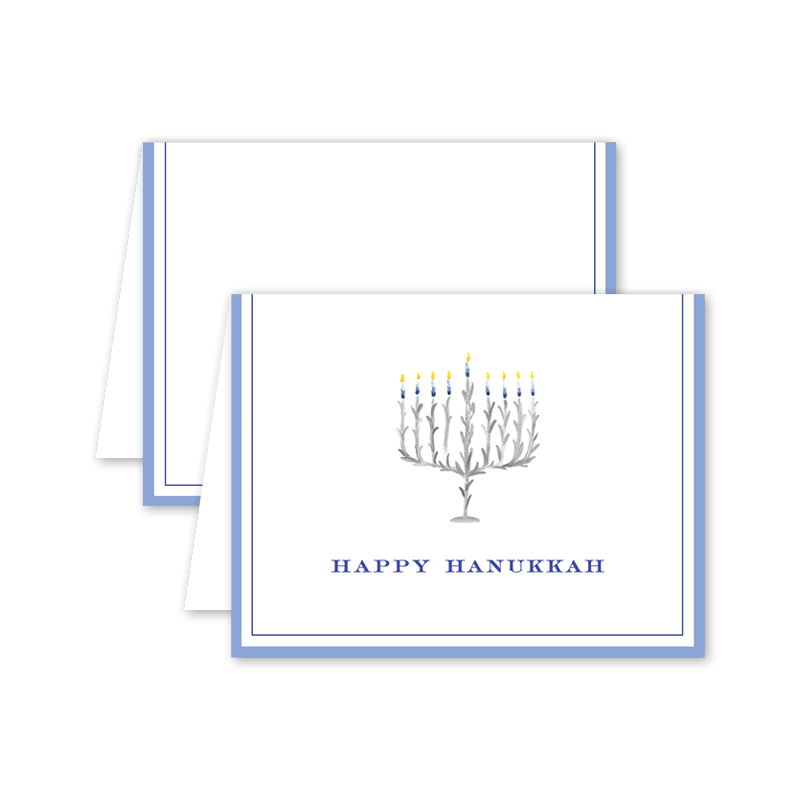 Chanukkah Menorah Card