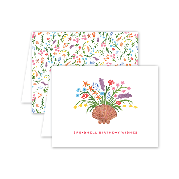Seashell Blooms Birthday Card