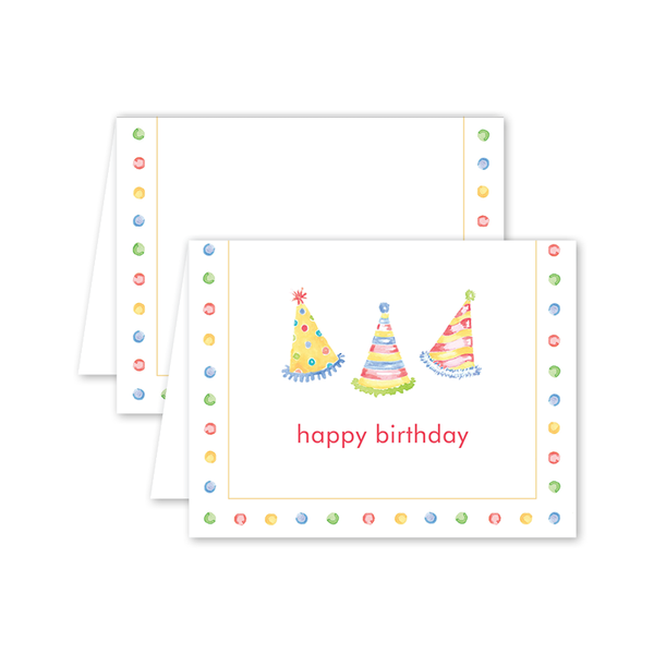 Party Confetti Hats Birthday Card