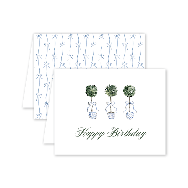 Grandmillennial Topiaries Birthday Card