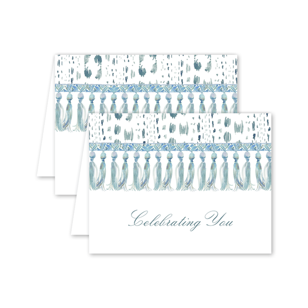 Royal Chintz Tassle Birthday Card