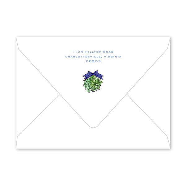 Tis the Season Topiary New Year Envelopes