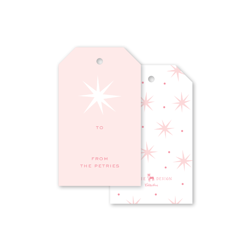 Star of Wonder Pink Gift Tags