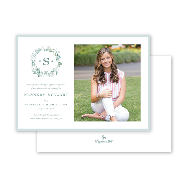 Forget Me Nots Graduation Landscape Photo Announcement