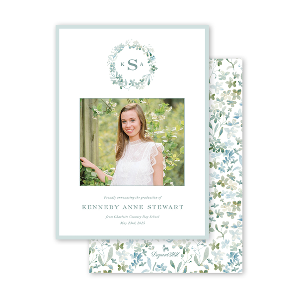Forget Me Nots Graduation Photo Announcement