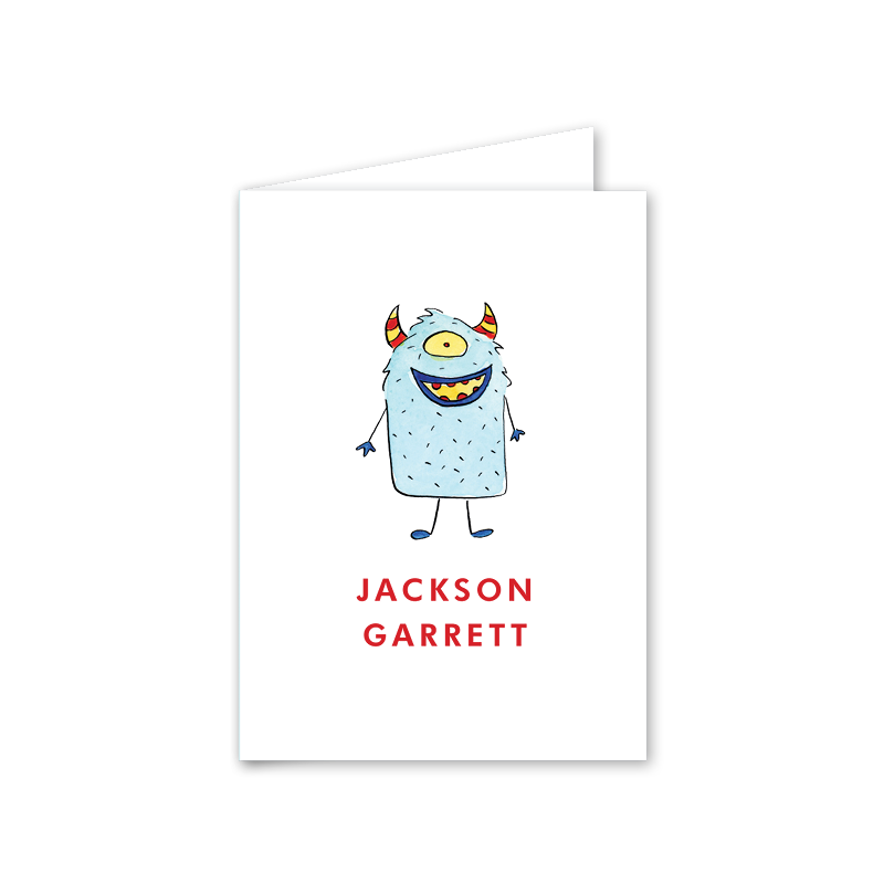 Arcade Monster Folded Notecard