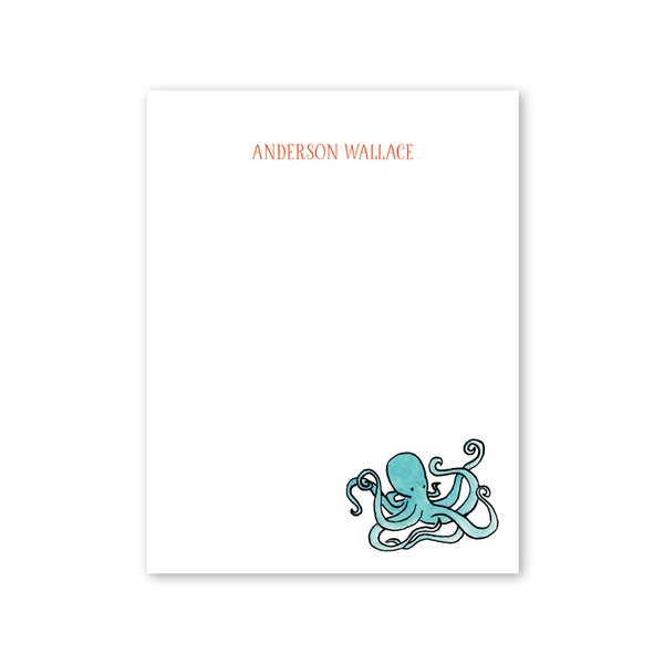 Beach Crest Octopus Notepad