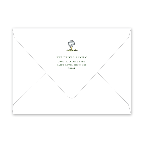 Golf Crest Birthday Envelopes