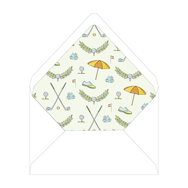 Golf Crest Notecard Liner