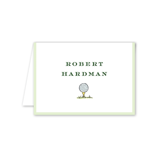 Golf Crest Folded Notecard