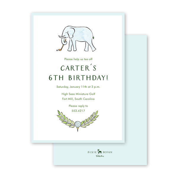 Golf Elephant Birthday