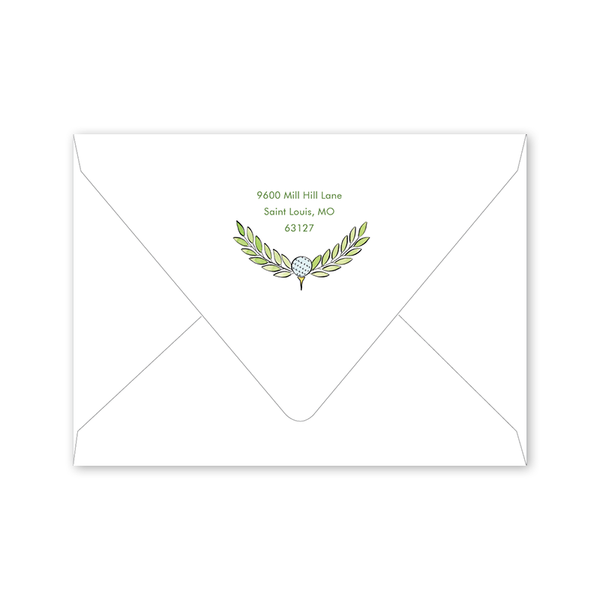 Golf Elephant Birthday Envelopes