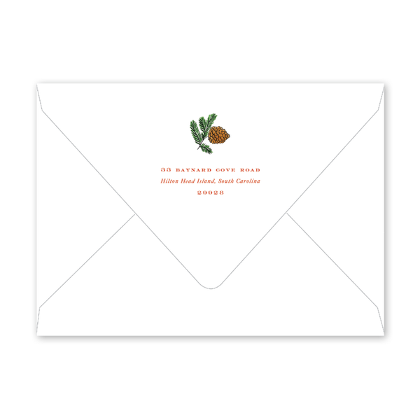 Holly Crest Border Envelopes