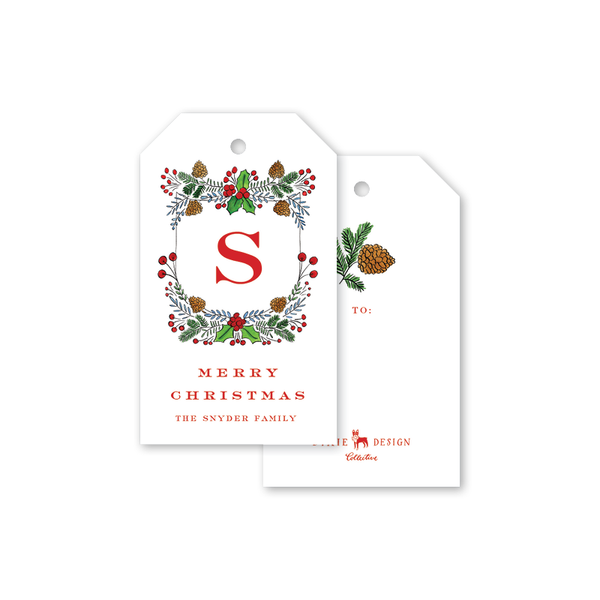 Holly Crest Gift Tags