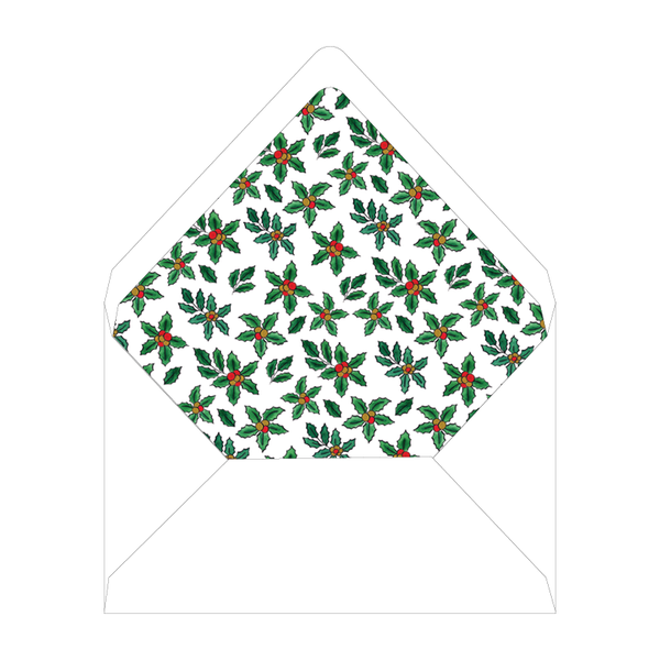 Holly and Horns Invitation Liner