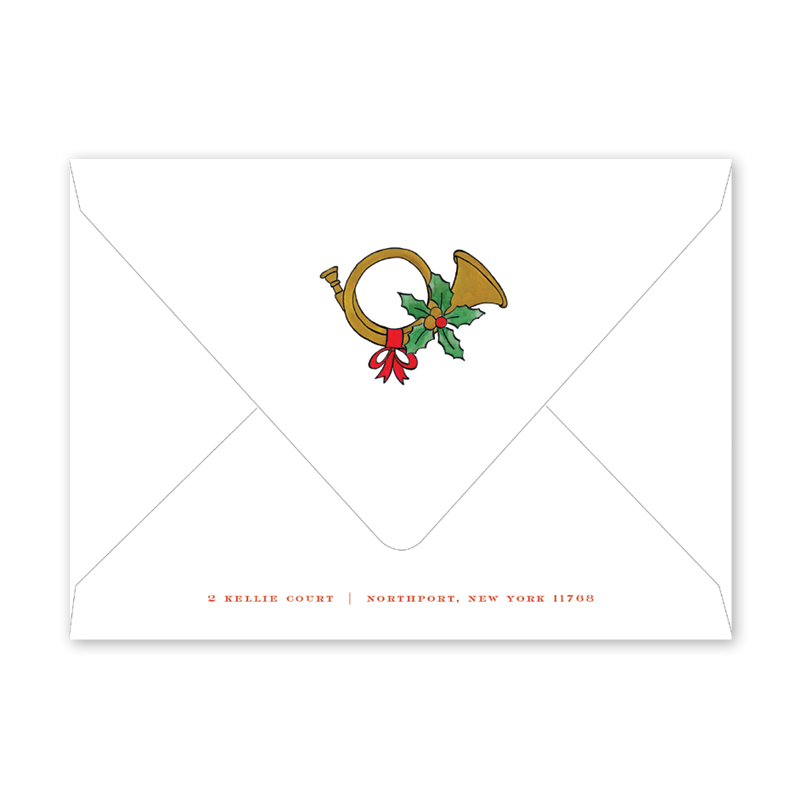 Holly and Horns Envelopes