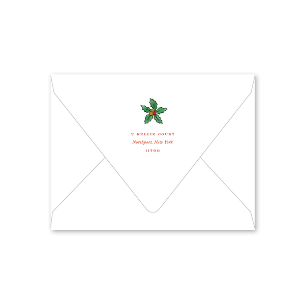 Holly and Horns Folded Envelopes