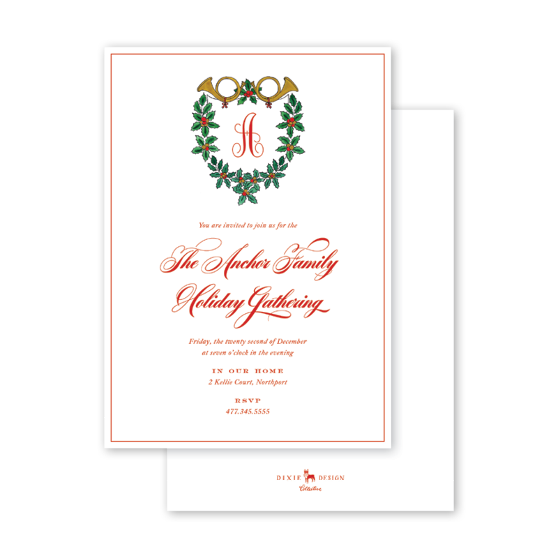 Holly and Horns Invitation