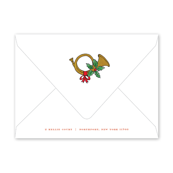 Holly and Horns Invitation Envelopes