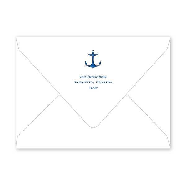 Nautical Birth Announcement Envelopes