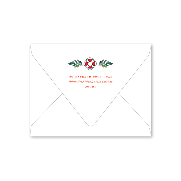 Nautical Christmas Folded Envelopes