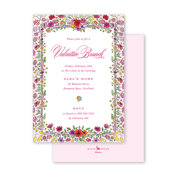 Secret Garden Valentine Invitation