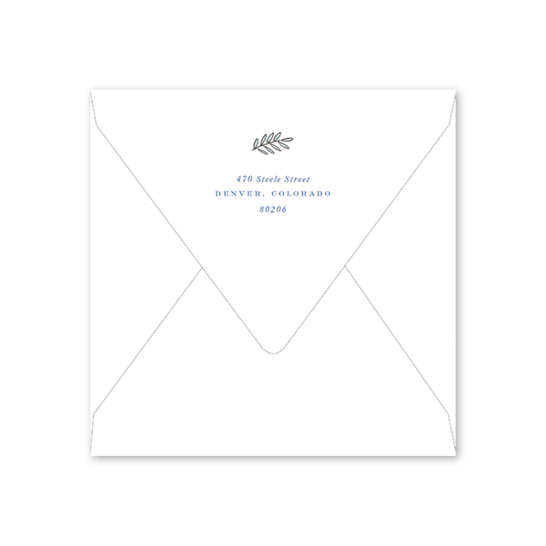 Winter Joy Hanukkah Square Envelopes