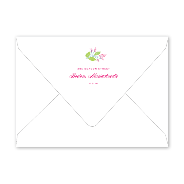Amherst Vine Landscape Birth Announcement Envelopes