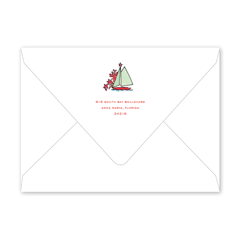 Beach Crest Invitation Envelopes