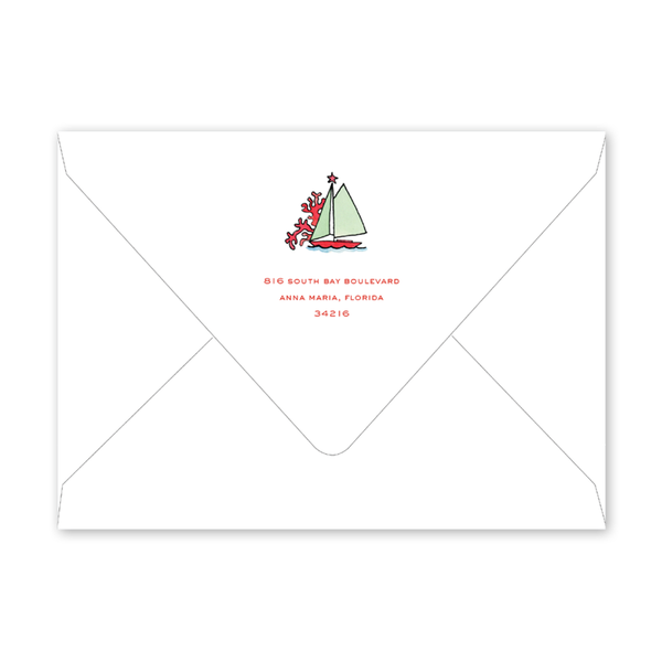 Beach Crest Holiday Landscape Envelopes