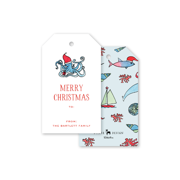 Beach Crest Christmas Gift Tags