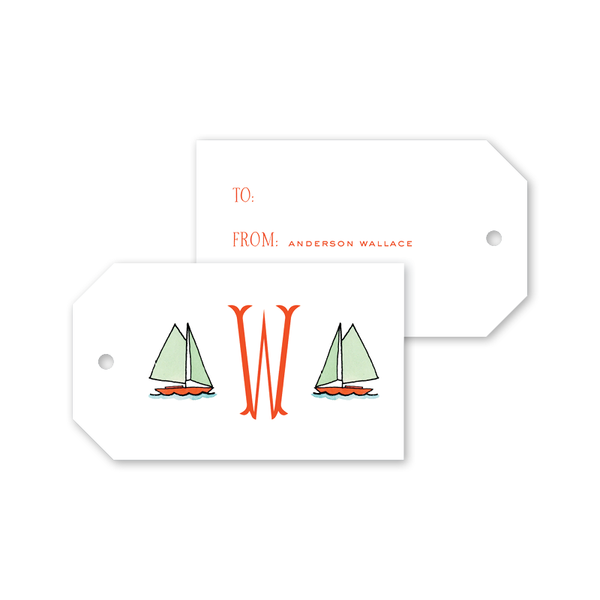 Beach Crest Monogram Gift Tags